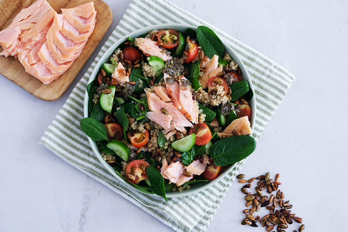 healthy spring recipe salmon