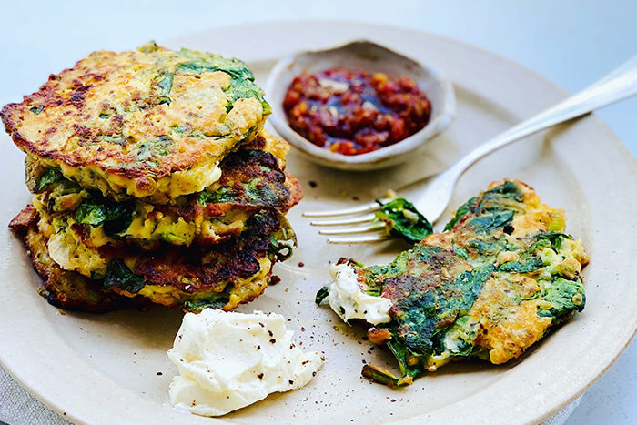 healthy spring recipe fritters